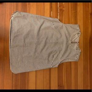 J Crew Women's sleeveless striped top white &navy